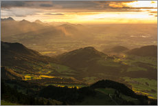 View from Hochries Mountain in the Bavarian Alps