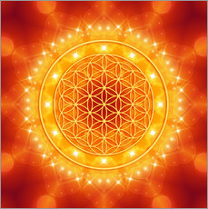 Flower of Life - Golden LightEnergy