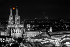 Blutmond over the Cologne Cathedral
