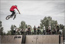 BMX freestyle bike jump. Extreme sport