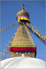 Bodhnath Stupa (Boudhanth) (Boudha), one of the holiest Buddhist sites in Kathmandu, UNESCO World He