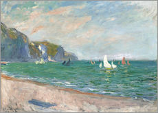Boats under the cliffs of Pourville