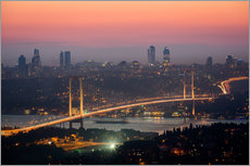 Bosporus-Bridge at Night (Istanbul / Turkey)