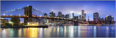 Brooklyn Bridge panorama in New York City, USA