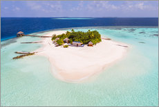 Drone view of paradise island, Maldives