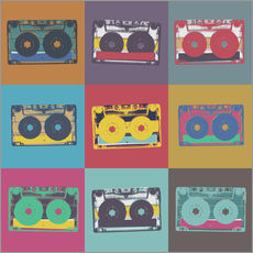 colorful cassettes