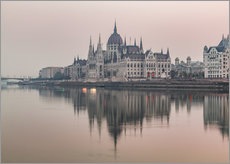 Colourful sunrises in Budapest
