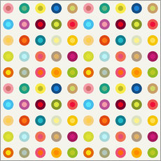 vintage colourful circles