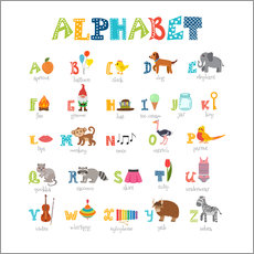 Cheerful alphabet (English)