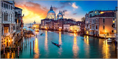 Grand Canal in Venice at night, Italy