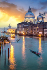 Grand Canal with Santa Maria della Salute in Venice, Italy