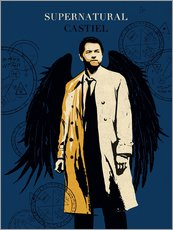 Alternative Castiel Supernatural art print