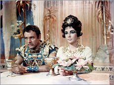 CLEOPATRA, Richard Burton and Elizabeth Taylor in 1963