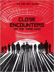 Close encounters of the third king movie inspired art print