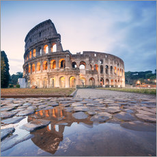 Colosseum reflected into water