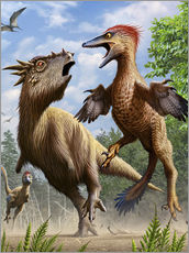 Confrontation between Pectinodon bakkeri and a Stygimoloch.