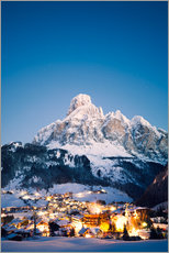 Corvara in Badia in winter, Dolomites, South Tirol, Italy