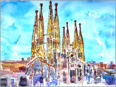 A turquoise heaven above the Sagrada Familia in Barcelona Catalonia