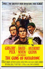 THE GUNS OF NAVARONE, David Niven, Gregory Peck, Anthony Quinn