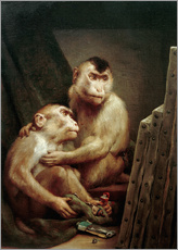 The art critic - two monkeys look at a painting
