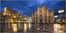 Cathedral Square and Cathedral of Milan at night, Milan, Italy