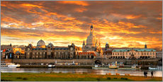 Dresden Elbe  sunset