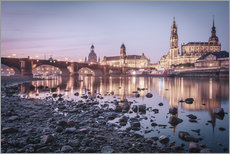 Dresden old town sunrise