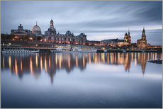 Dresden old town at the blue hour