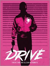 Drive ryan gosling movie inspired art print