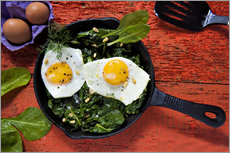 Eggs on spinach