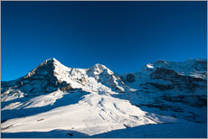 Panoramic view from Lauberhorn with Eiger Mönch and Jungfrau mountain peak
