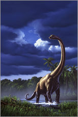 A Brachiosaurus in a swamp