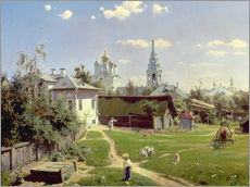 A Small Yard in Moscow