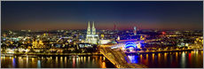 A panoramic view of cologne at night