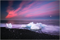 Icebergs on the beach in Iceland