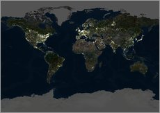 Whole Earth at night