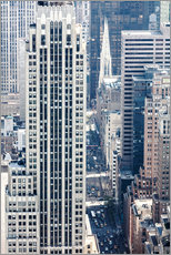 Elevated view of 5th avenue, Manhattan, New York city, USA