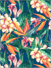 Exotic Flowers in Watercolor