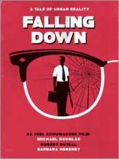 Falling down movie inspired art print