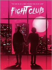 Fight club movie scene art print