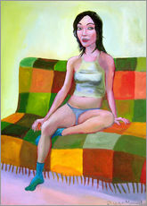 Woman on sofa II