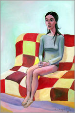Woman on sofa III