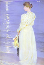 Woman in White on a Beach