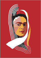 Frida Kahlo Abstract