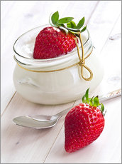 Fresh strawberries with curd