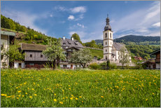 Spring freshness in Ramsau in Upper Bavaria (Germany)