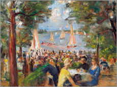 Beer garden on the Havel river
