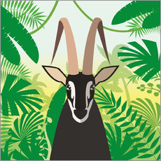 Gazelle in the rainforest
