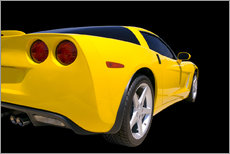 Yellow Corvette - sports car
