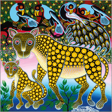 Cheetah with peacock